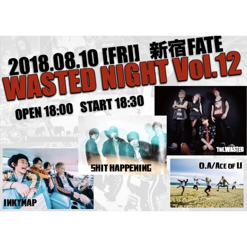 WASTED NIGHT Vol.12 前売りチケット