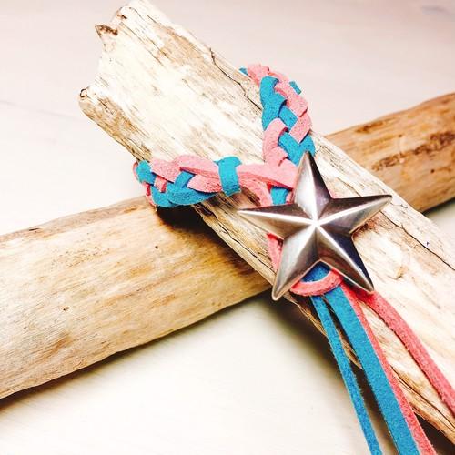 Star concho bracelet  (Blue × Pink)