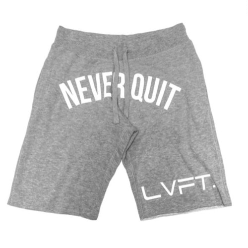 LIVE FIT Never Quit Sweat shorts- Heather Grey