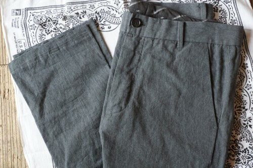 ALLSAINTS cotton × linen slim tapered Pants