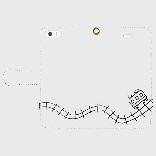 【送料無料】iPhoneSE 手帳型スマホケース でんしゃ