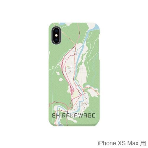 【白川郷】地図柄iPhoneケース(バックカバータイプ・ナチュラル)