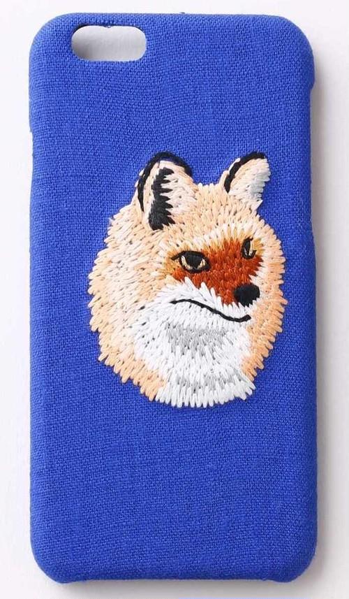 【iPhone6/6S専用】刺繍iPhone6/6Sケース キツネ