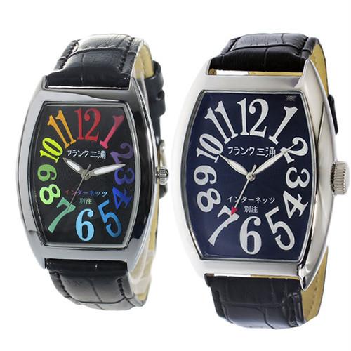 ペアウォッチ フランク三浦 腕時計 メンズ レディース インターネッツ別注 クォーツ ブラック fm00it-crbk fm06it-bk