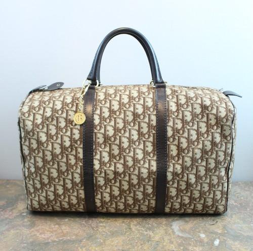 .Christian Dior TROTTER LEATHER CANVAS BOSTON BAG MADE IN FRANCE/クリスチャンディオールトロッターレザーキャンバスボストンバッグ 2000000034041