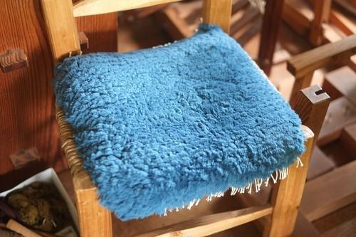 ◆【ノッティング・手織りの椅子敷き】◆(小) ◆NEW!     #20210611