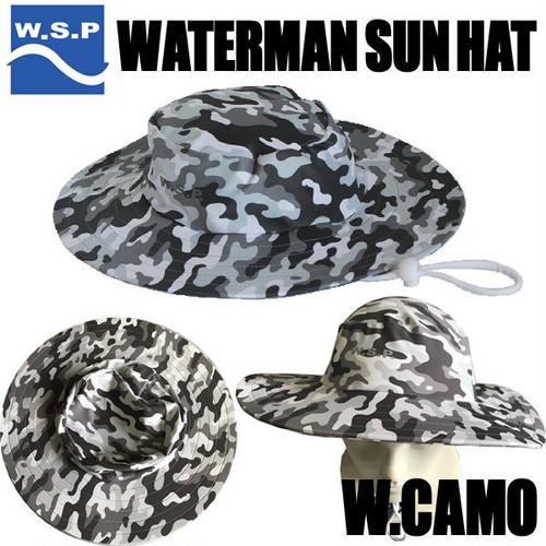 WSP サンハット Wカモ ラッシュ素材のサーフハット