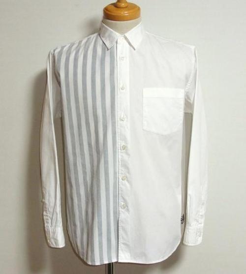 stussy ストライプ切替えシャツ 表記(M)