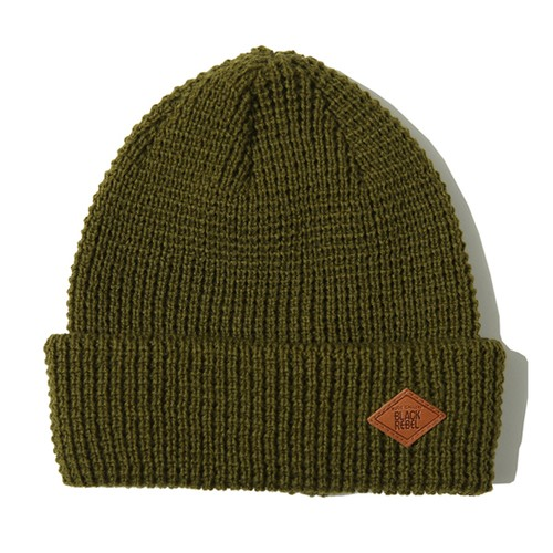 WAFFLE STITCH KNIT CAP (OD) / RUDE GALLERY BLACK REBEL