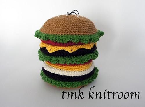 「ティッシュケース付き!ハンバーガーポーチ」pdf ダウンロード編み図
