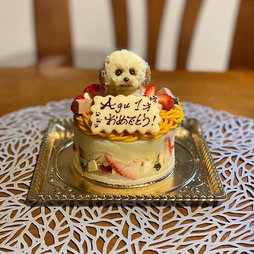 【ワンちゃんケーキ用オプション】愛犬ちゃんそっくりマスコット一頭