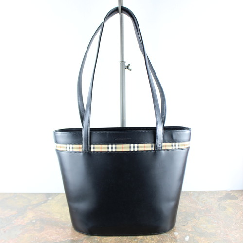 .BURBERRY LEATHER TOTE BAG/バーバリーレザートートバッグ 2000000050294