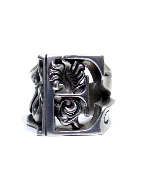 alphabet ring#E (silver925) - アルファベットモチーフ リングE-