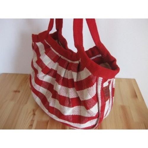 <フェアトレード>コロンコロン バッグ チェック柄 トートバック ハンドバッグ 手織り ネパール