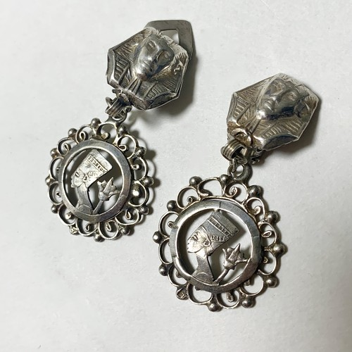 Vintage 600Silver Dangle Earrings made In Egypt