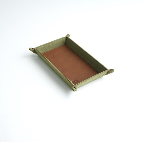 CANVAS CASH TRAY / MOSS GREEN