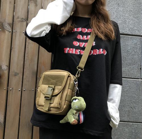 ミニテクニカルクロスバッグ クロスバッグ ストリート ショルダーバッグ 韓国ファッション