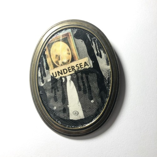 """""""dib"""" ONE-OFF COLLAGE BROOCH"""
