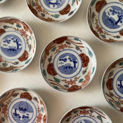 鳳凰と壷の小皿