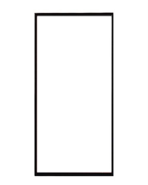 ポスターフレーム 特注サイズ100x40cm ブラック (サイマーワモンアザラシ用)