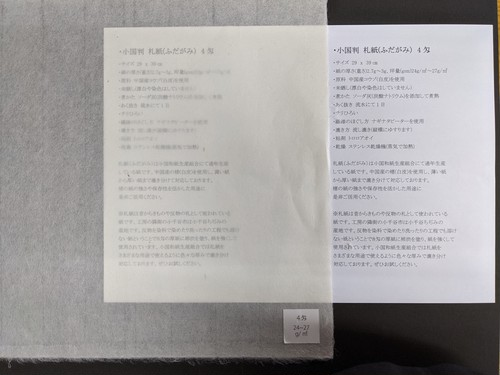 小国判 札紙(ふだがみ) 4匁(3枚入り)