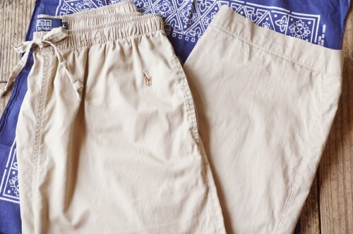 90's Ralph Lauren cotton easy Pants
