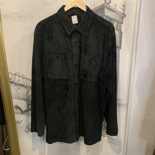 suede leather  shirt jacket