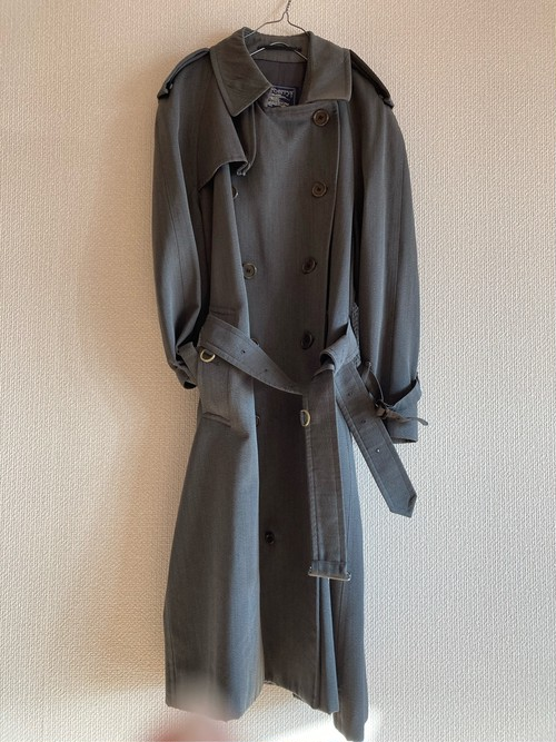 Burberry's Grey Long Trench Coat