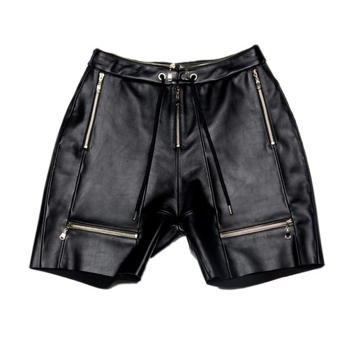 Leather Shorts (Black)