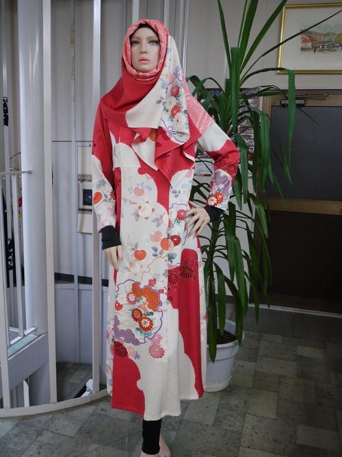 訪問着ドレス&ヒジャブ ① 限定品  Dress & Hijab