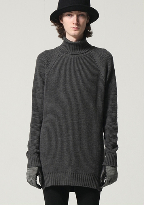 【WIZZARD】TURTLE KNIT/TOP GRAY