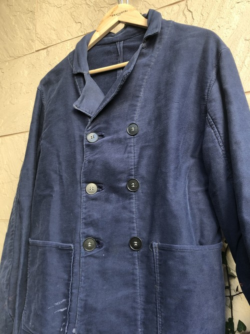 Old Dutch blue moleskin dabble breasted jacket