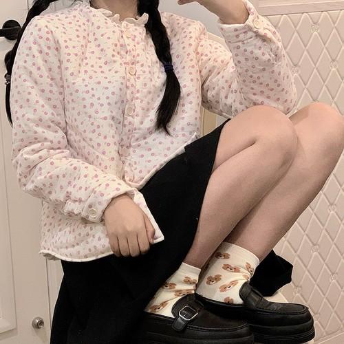 花柄パデットシャツジャケット ・12484