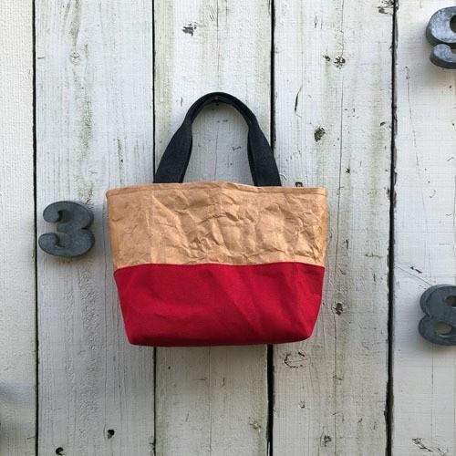 Tyvek+帆布 ツートン切り替え中トートバッグ