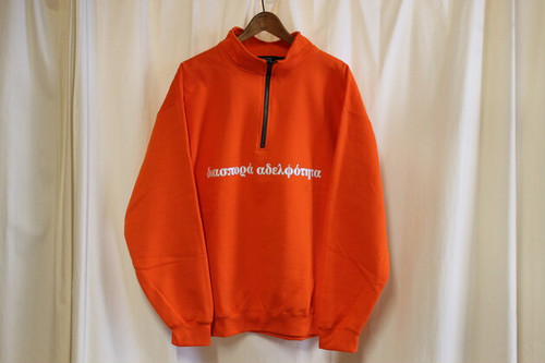 Diaspora Skateboards / LONG LETTER QUARTER ZIP SWEAT SHIRT