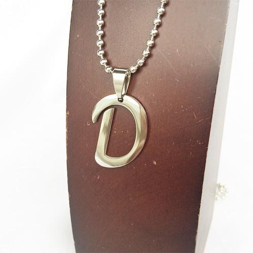 D アルファベット ボールチェーン チョーカー ネックレス 銀 シルバー SILVER 1891