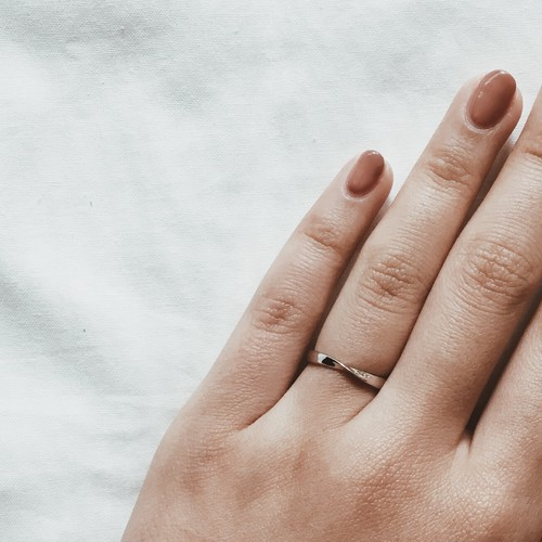Silver925 simple bend ring
