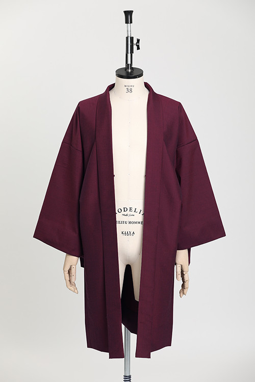 羽織 / Silk-wool / Wine red(With tailoring)