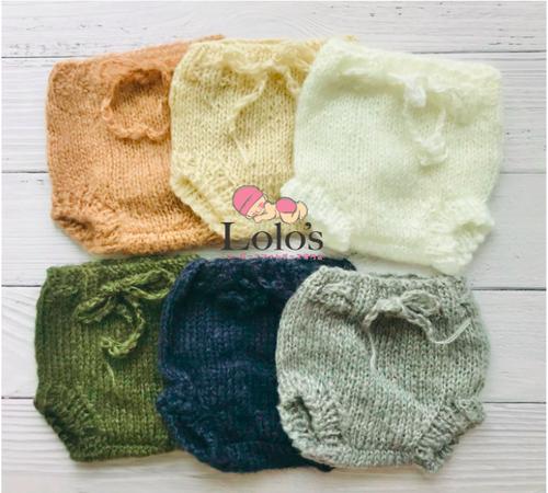 ふんわり手編みオムツカバー