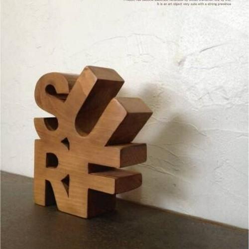 数量限定 木製文字 ウッドオブジェ SURF サーフィン サーフ オブジェ 看板 ウッドサイン 文字 チャンネルレター