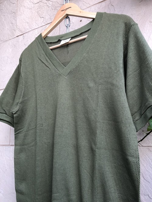 Deadstock Old British military mesh olive T-shirts