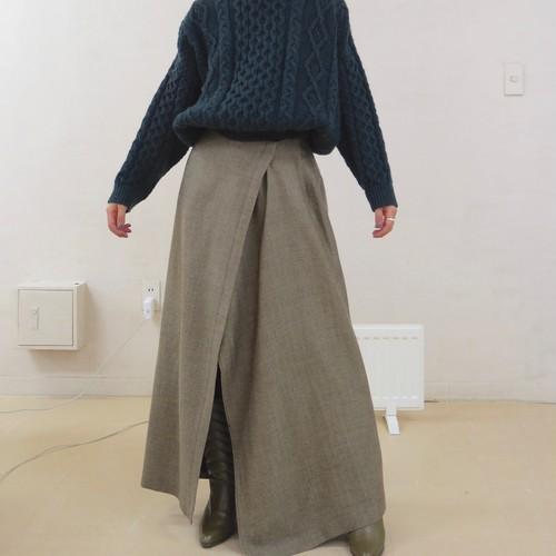 wool wrap skirt