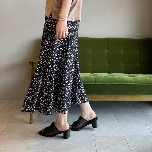 【 QTUME 】- 152-26520 - レオパード柄マーメイドスカート