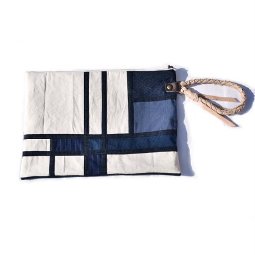 藍染 モンドリアン クラッチバッグ Mondrian Clutch Bag 003