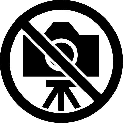 三脚撮影禁止のカッティングステッカーシール