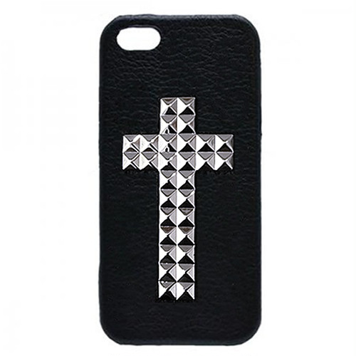 enchanted.LA CROSS STUDDED LEATHER COVER CASE #SAVE ME
