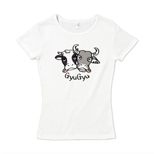 CT86 牛のギュウギュウA / 6.2オンス CVC フライス Tシャツ