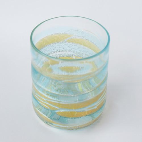 【新作】片岡操作品 水紋タンブラー(水色)