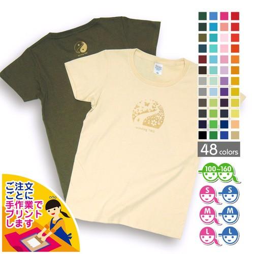 花の道Tシャツ【選べる48色*12サイズ】[制作終了]