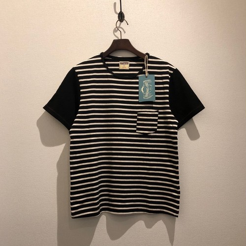 CN SS TEE / BORDER (BLACK×IVORY) / LOST CONTROL